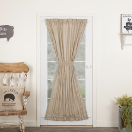 VHC Brands Sawyer Mill Charcoal Ticking Stripe Door Panel