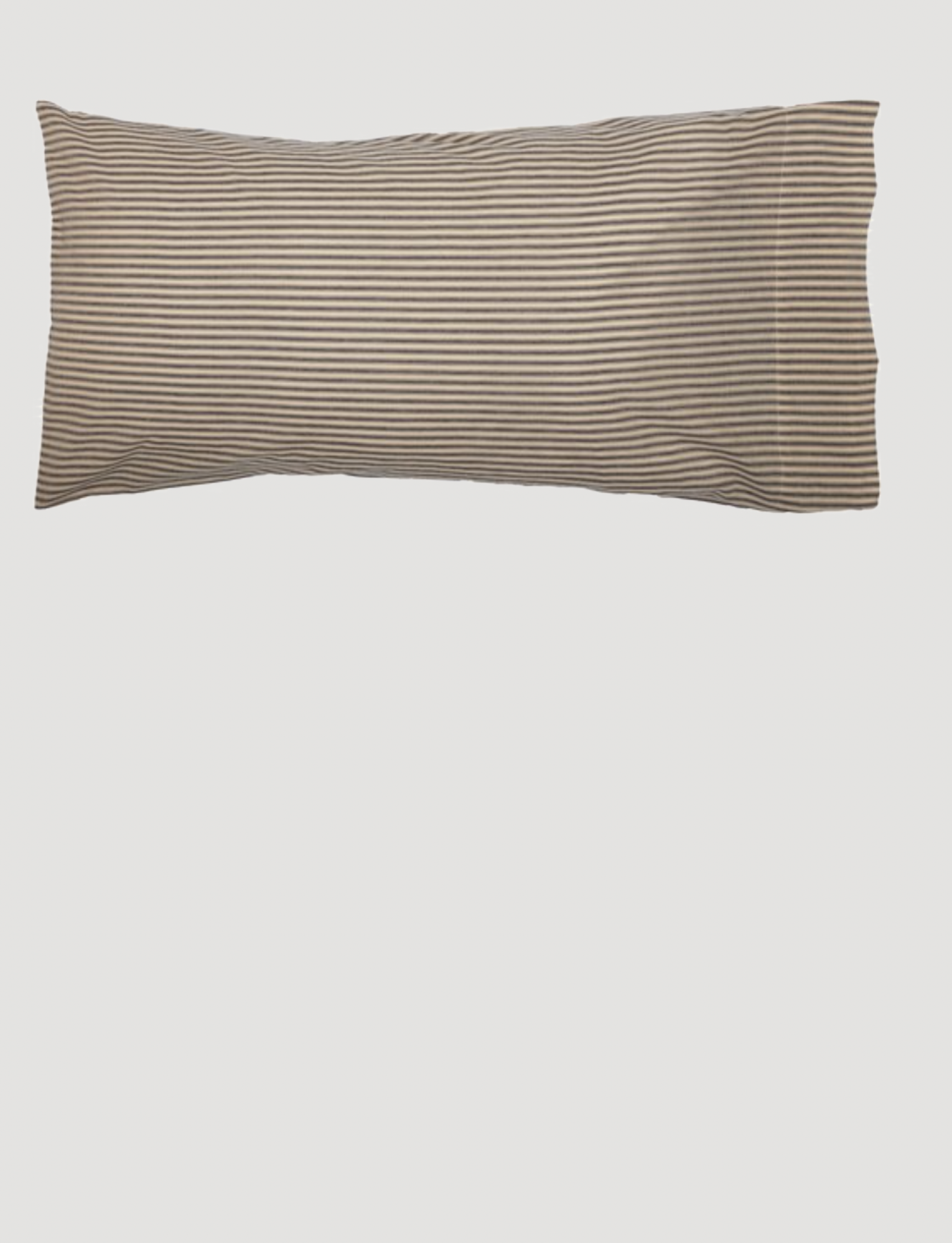 VHC Brands Sawyer Mill Charcoal Ticking Stripe Pillow Case Set of 2