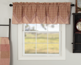 VHC Brands Sawyer Mill Red Layered Valance
