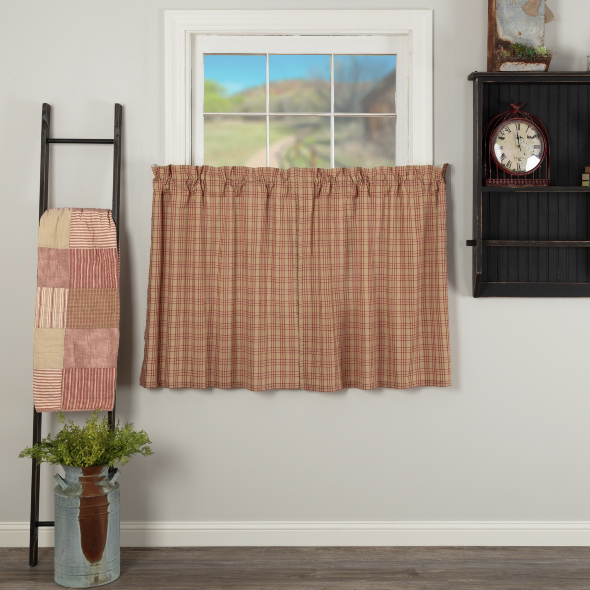 VHC Brands Sawyer Mill Red Plaid Tier Set of 2