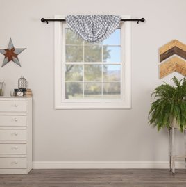 VHC Brands Sawyer Mill Blue Plaid Balloon Valance