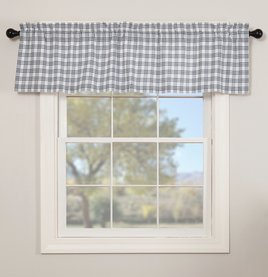 VHC Brands Sawyer Mill Blue Plaid Valance