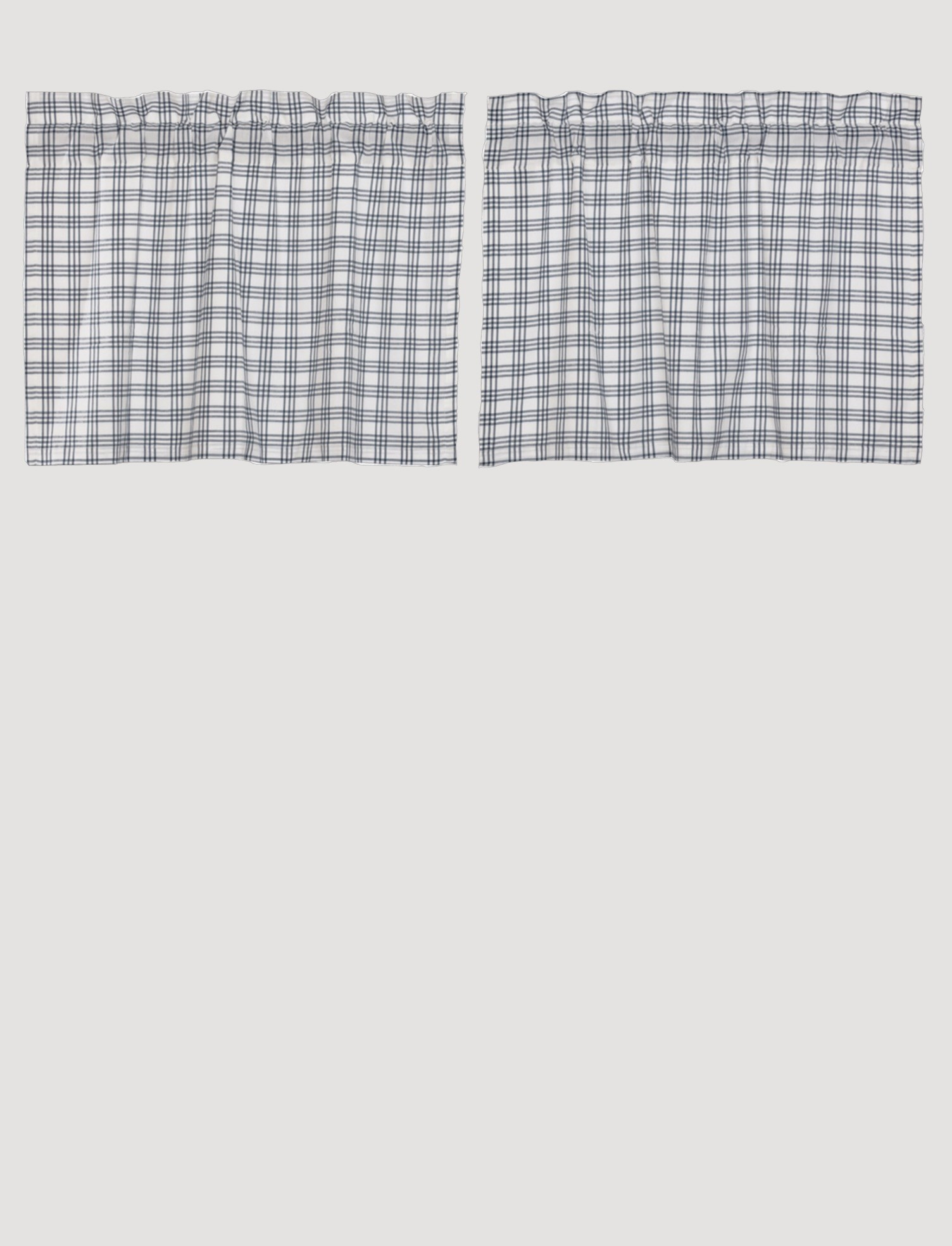 VHC Brands Sawyer Mill Blue Plaid Tier Set of 2