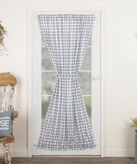 VHC Brands Sawyer Mill Blue Plaid Door Panel