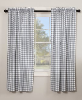 VHC Brands Sawyer Mill Blue Plaid Panels
