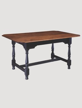 Nana's Farmhouse Harvest Tiger Maple Top Dining Table