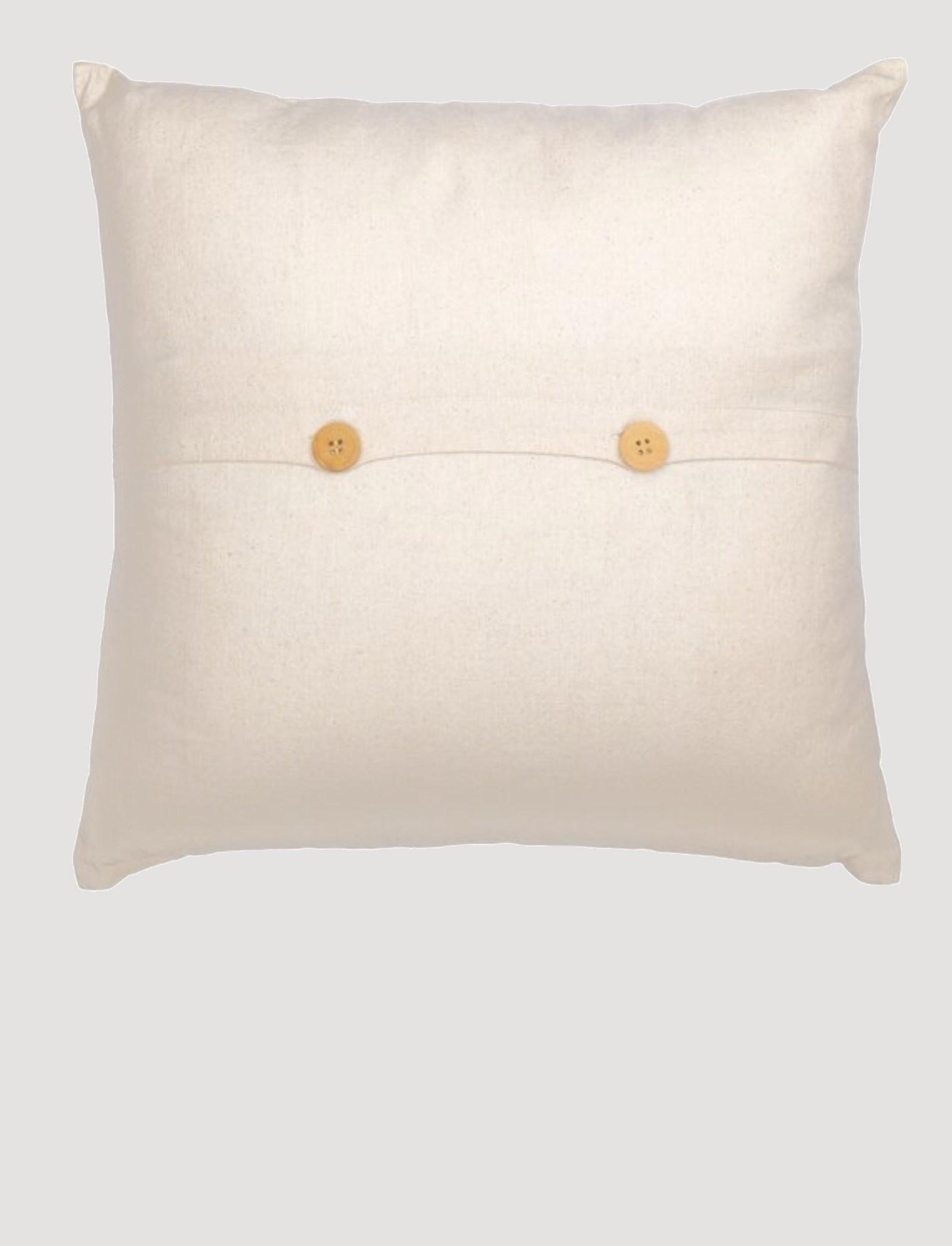"VHC Brands Casement Natural Grateful Thankful Blessed Pillow 18""x18"""