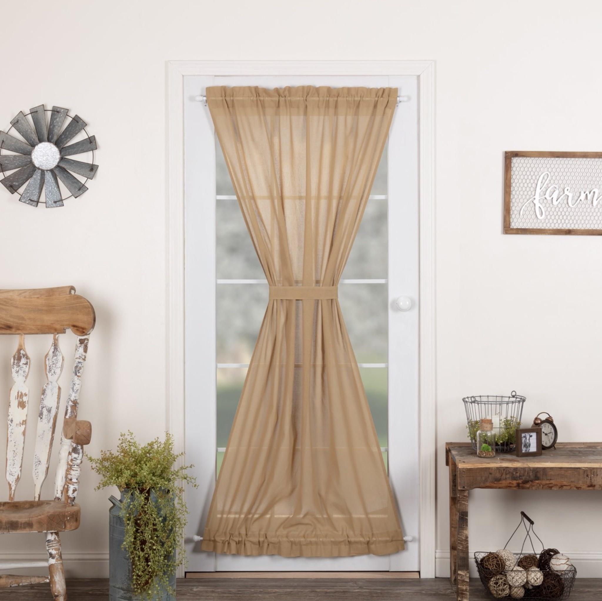 VHC Brands Tobacco Cloth Door Panel Curtain