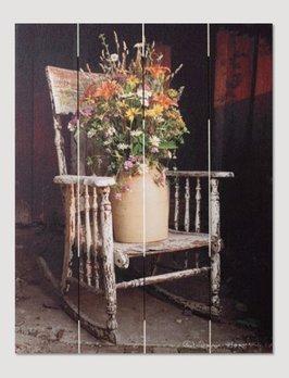 Nana's Farmhouse Rocking Chair Bouquet Pallet Art