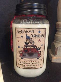 Herbal Star Candles Farmhouse Cinnamon Jar Candle