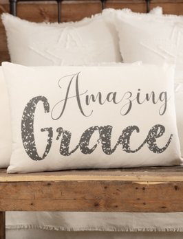 VHC Brands Casement Natural Amazing Grace Pillow