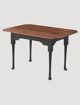 Primitive Designs Spoon Foot Tiger Maple Top Dining Table