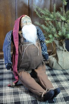 Arnett's Arnett's Santa Brown Overalls Sitting AC1