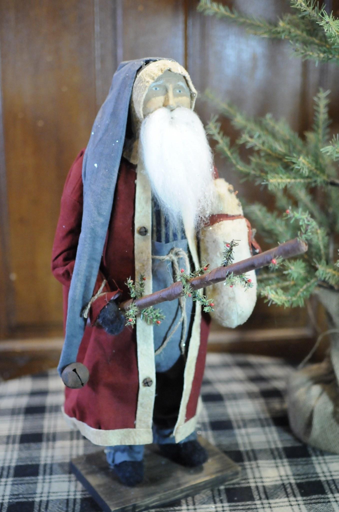 Arnett's Arnett's Fat Santa Red Coat Holding Snowman & Tree PDC3
