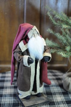 Arnett's Arnett's Santa Brown Open Coat Holding Stocking AC10