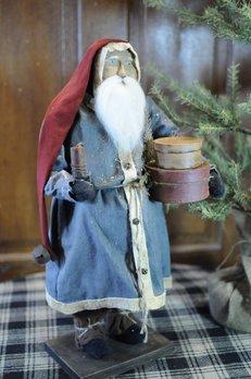 Arnett's Arnett's Santa Blue Coat Holding Pantry Boxes & Candle PDC11