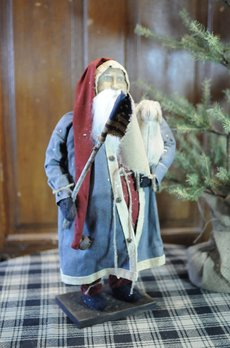 Arnett's Arnett's Santa Blue Coat Holding Sheep & Flag PDC4