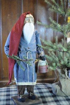 Arnett's Arnett's Santa Tall Blue Coat Holding Pantry Boxes TYC5