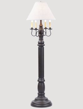 Irvin's Tinware General James Floor Lamp with Ivory Linen Shade