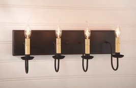Irvin's Tinware Four Light Vanity Light in Sturbridge