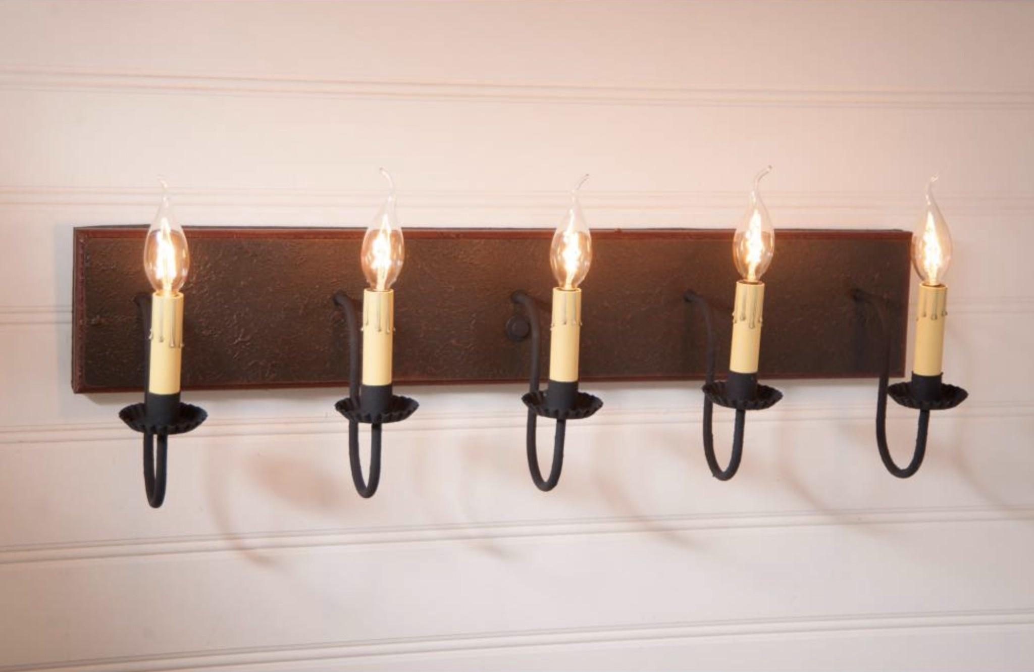 5 Light Vanity Country Bathroom Lights Nana S Farmhouse