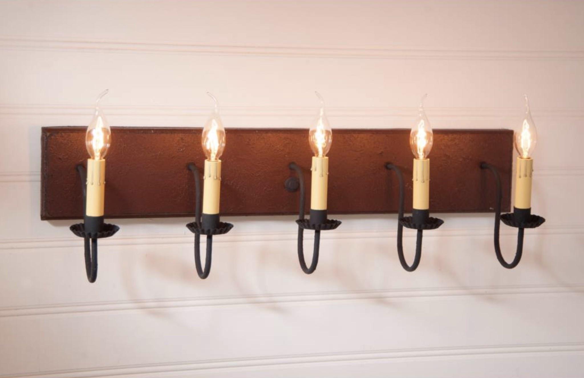 Irvin's Tinware 5 Light Vanity Light