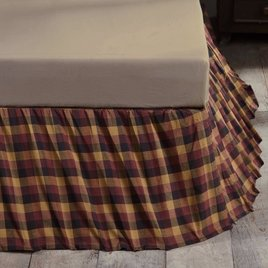 VHC Brands Heritage Farms Primitive Check Bed Skirt