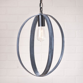 Irvin's Tinware Oval Sphere Pendant in Black