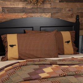 VHC Brands Heritage Farms Crow Pillow Case Set