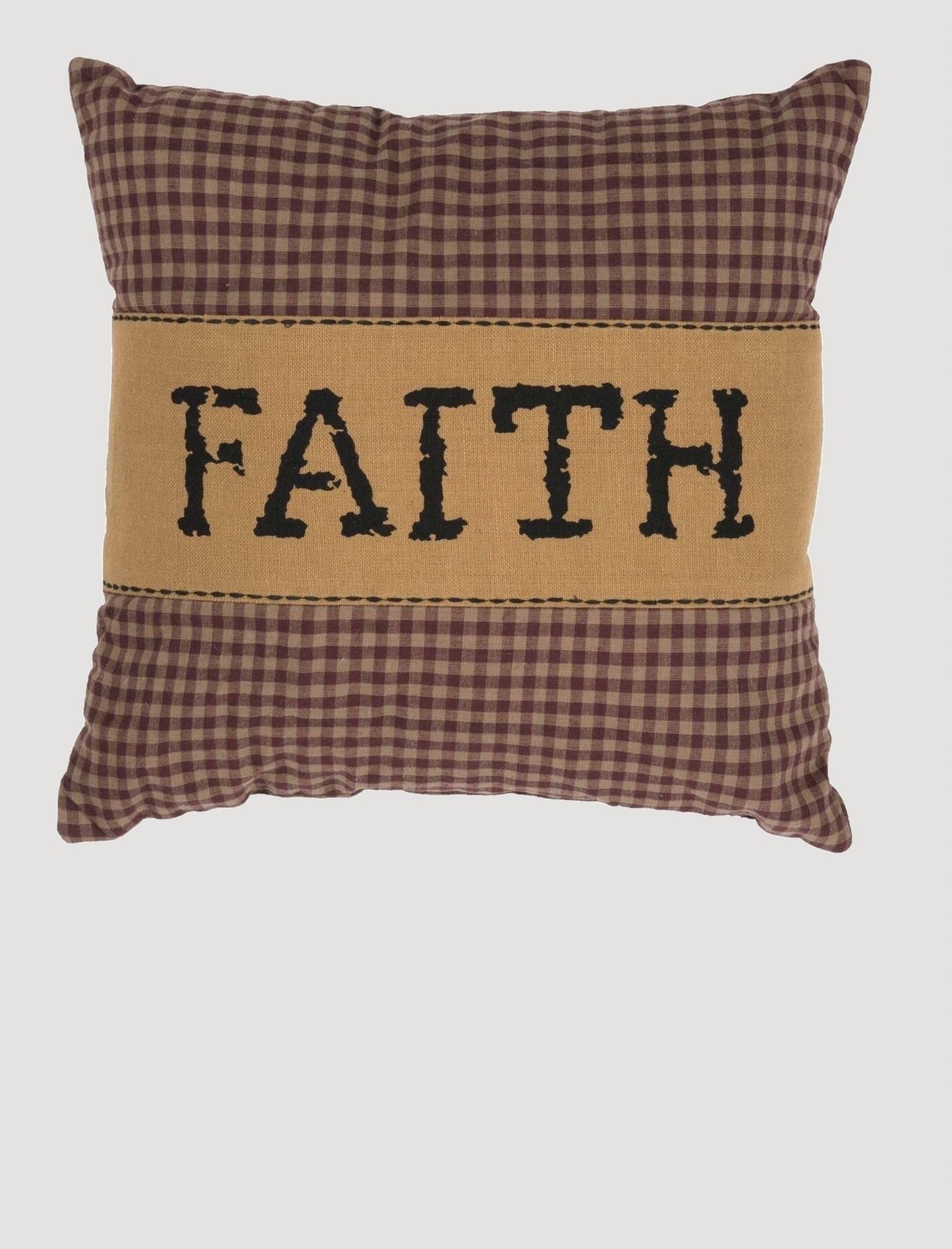 VHC Brands Heritage Farms Faith Pillow