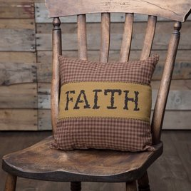 VHC Brands Heritage Farms Faith Pillow