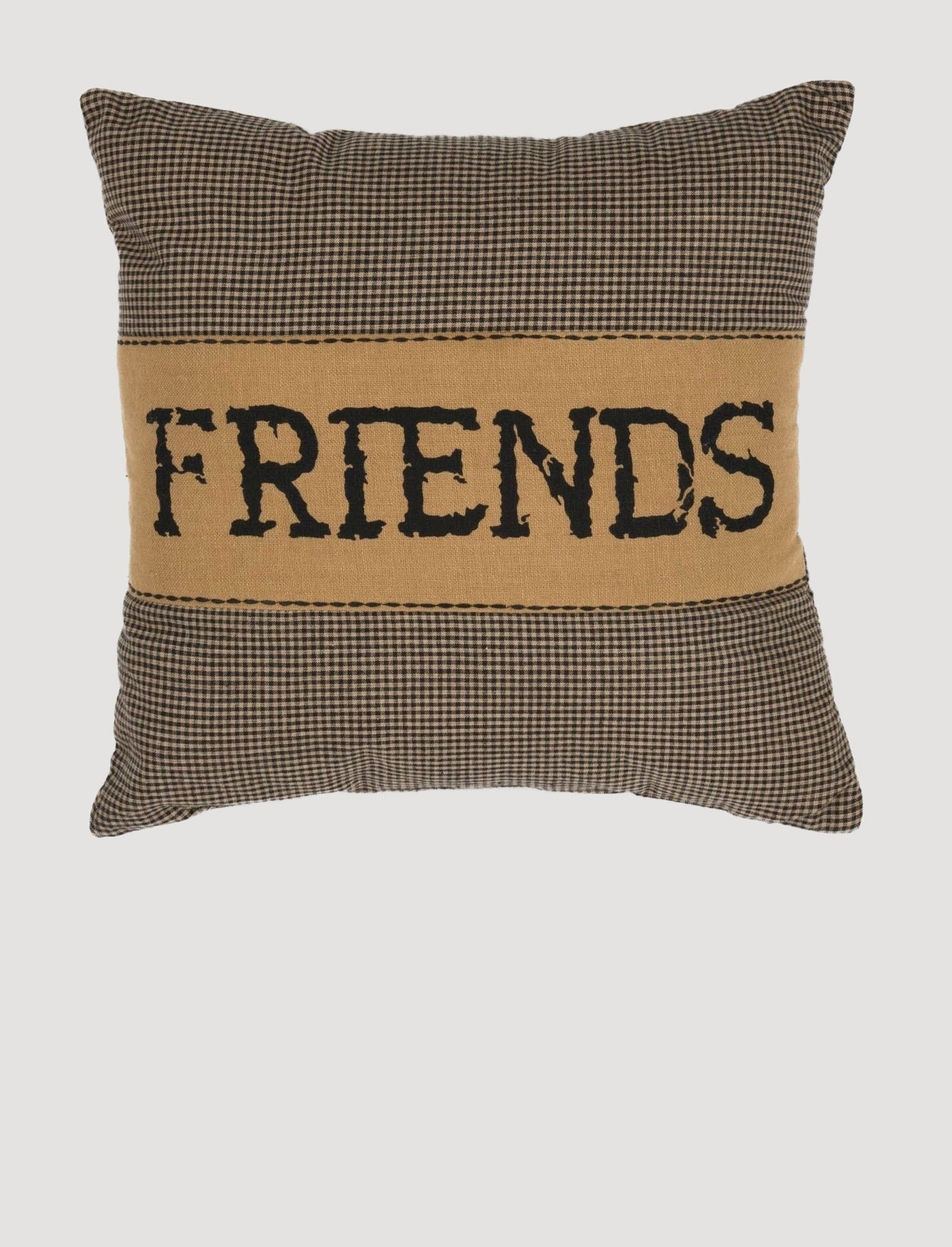 "VHC Brands Heritage Farms Friends Pillow 12"" x 12"""