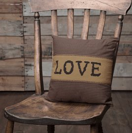VHC Brands Heritage Farms Love Pillow