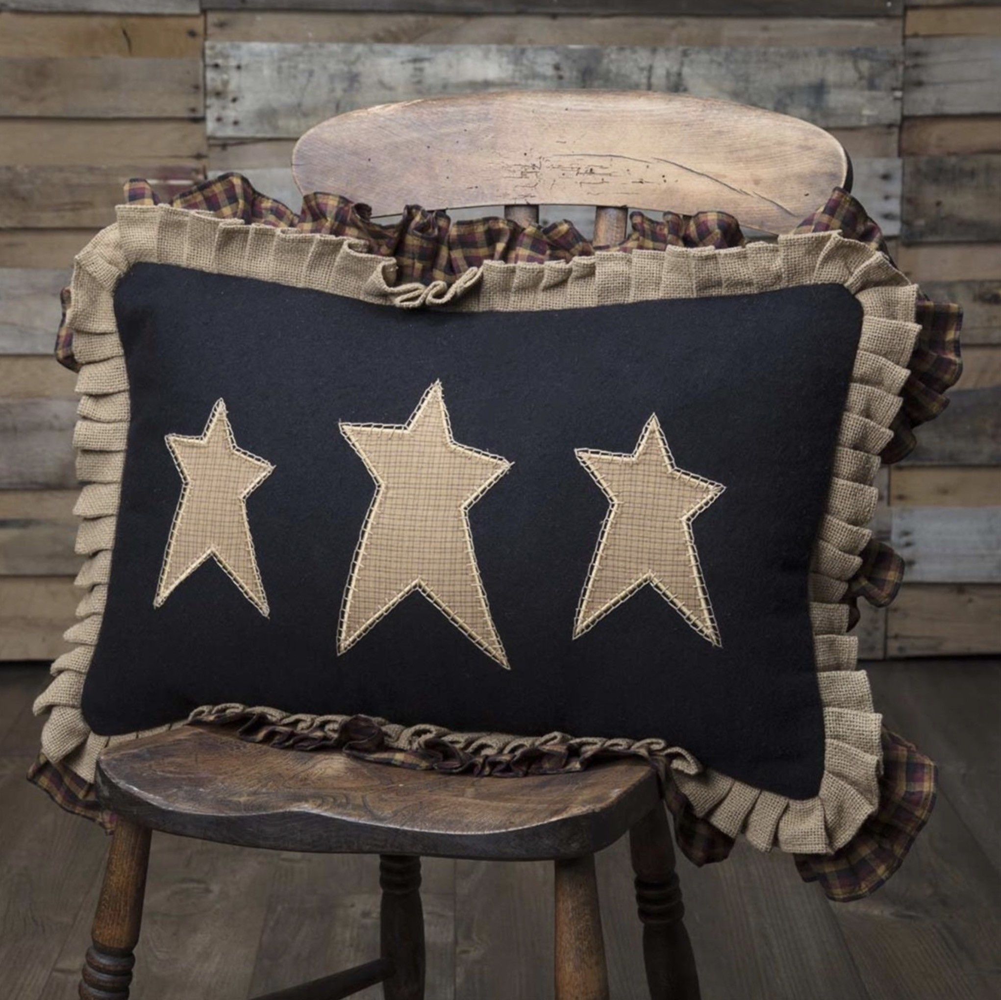 VHC Brands Heritage Farms Primitive Stars Pillow