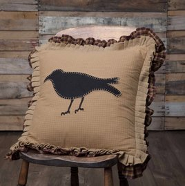 VHC Brands Heritage Farms Primitive Crow Pillow