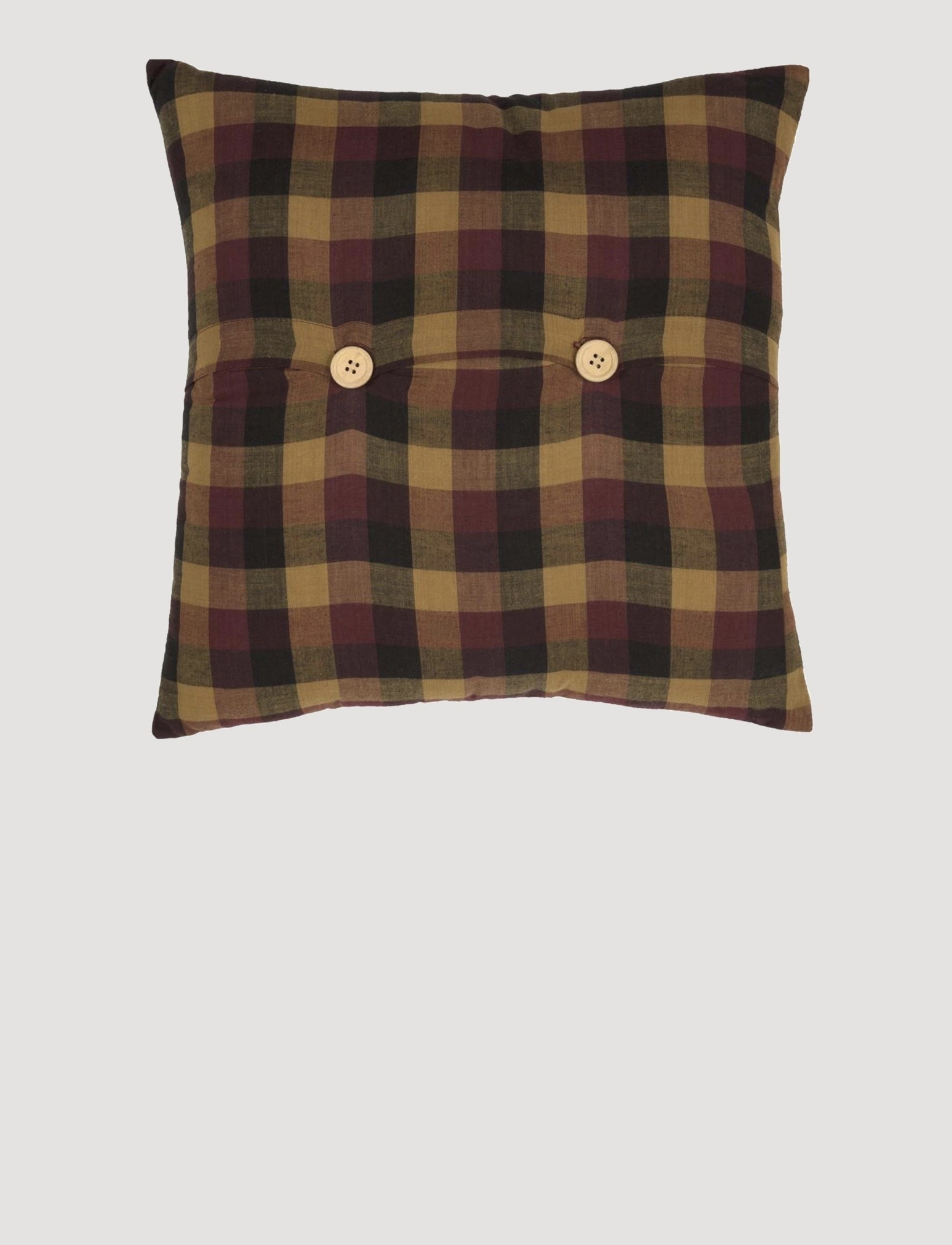 VHC Brands Heritage Farms Primitive Check Fabric Pillow