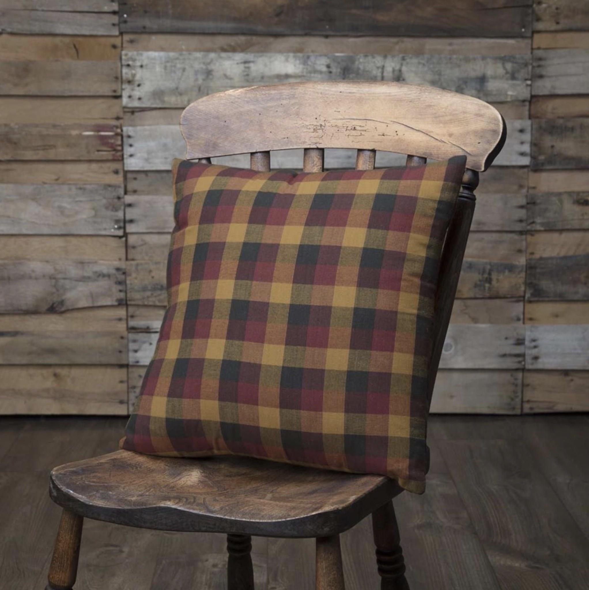 Heritage Farms Primitive Check Fabric Pillow Nana S