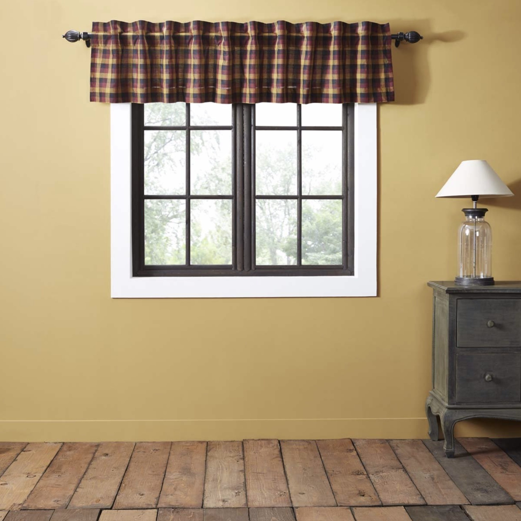 VHC Brands Heritage Farms Primitive Check Valance