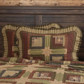VHC Brands Tea Cabin Quilted Sham