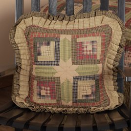 VHC Brands Tea Cabin Quilted Pillow