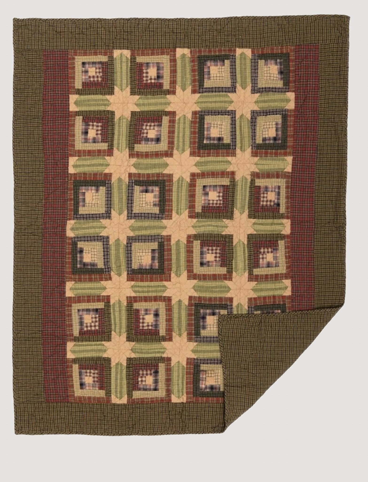 """VHC Brands Tea Cabin Quilted Throw 60"""" x 50"""""""