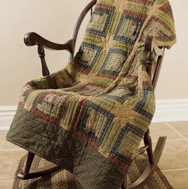 VHC Brands Tea Cabin Quilted Throw