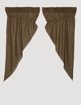 VHC Brands Tea Cabin Green Plaid Prairie Short Panel Set