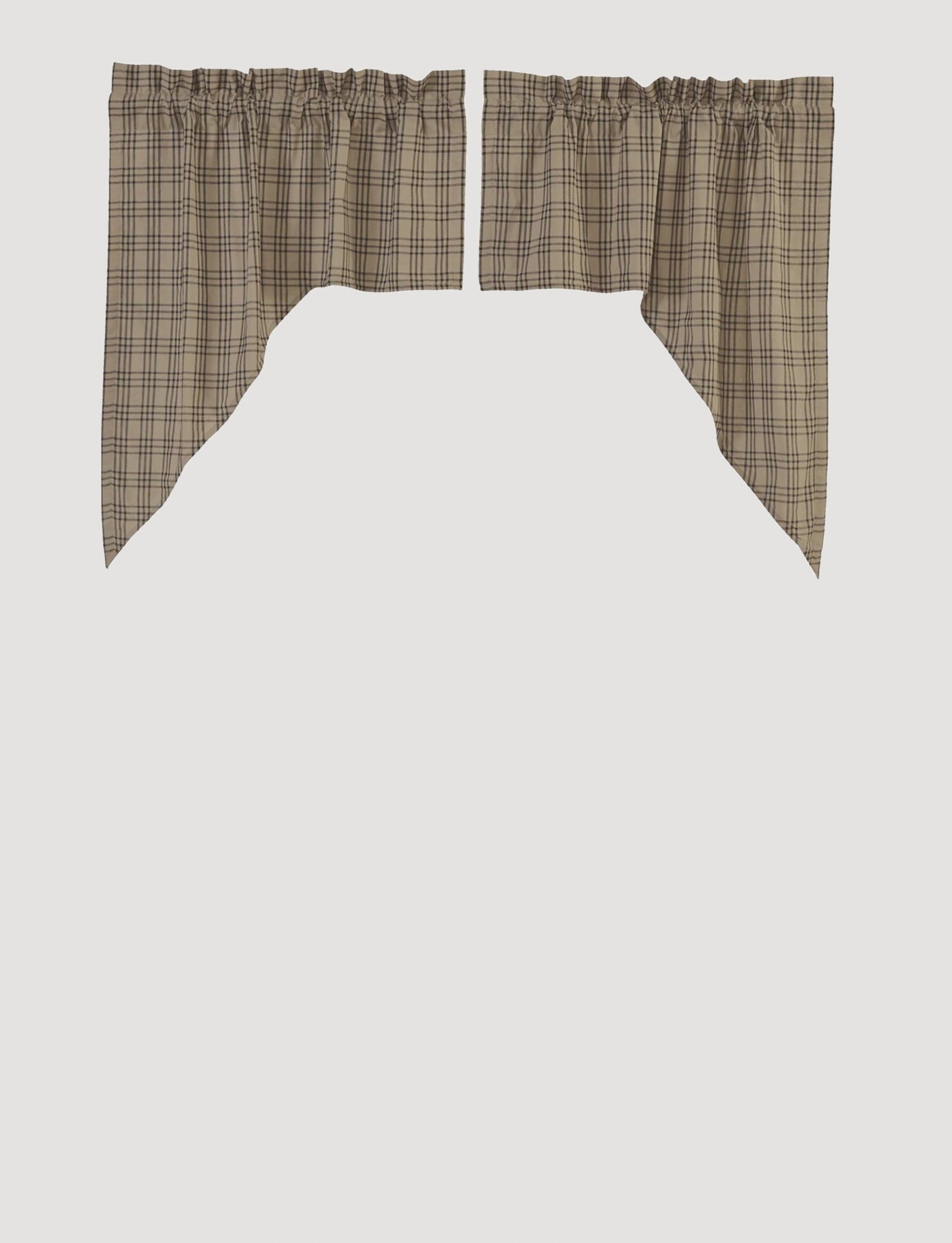 VHC Brands Sawyer Mill Charcoal Plaid Swag Set