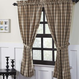 VHC Brands Sawyer Mill Charcoal Plaid Short Lined Panel Set