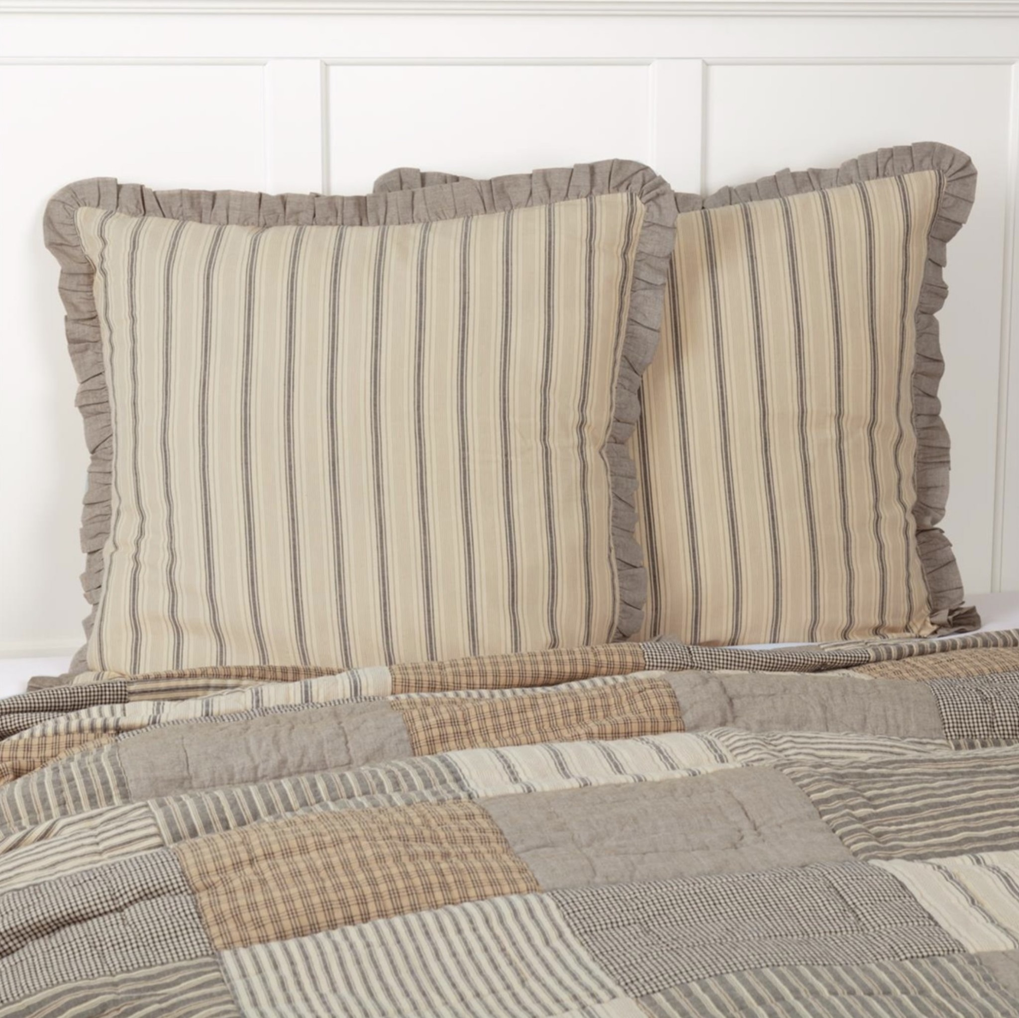 "VHC Brands Sawyer Mill Charcoal Fabric Euro Sham 26"" x 26"""