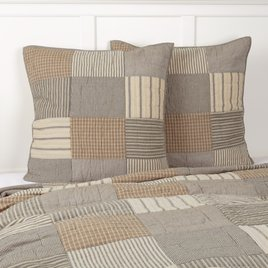 VHC Brands Sawyer Mill Charcoal Quilted Euro Sham