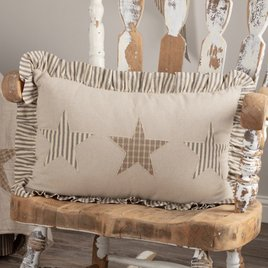 VHC Brands Sawyer Mill Star Charcoal Pillow