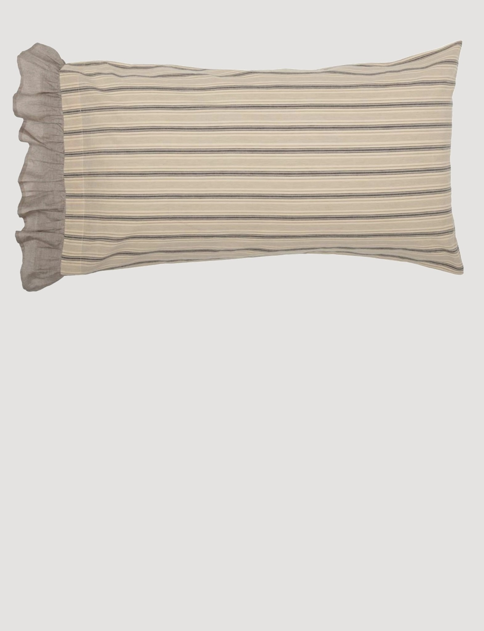 VHC Brands Sawyer Mill Charcoal Pillow Case Set of 2