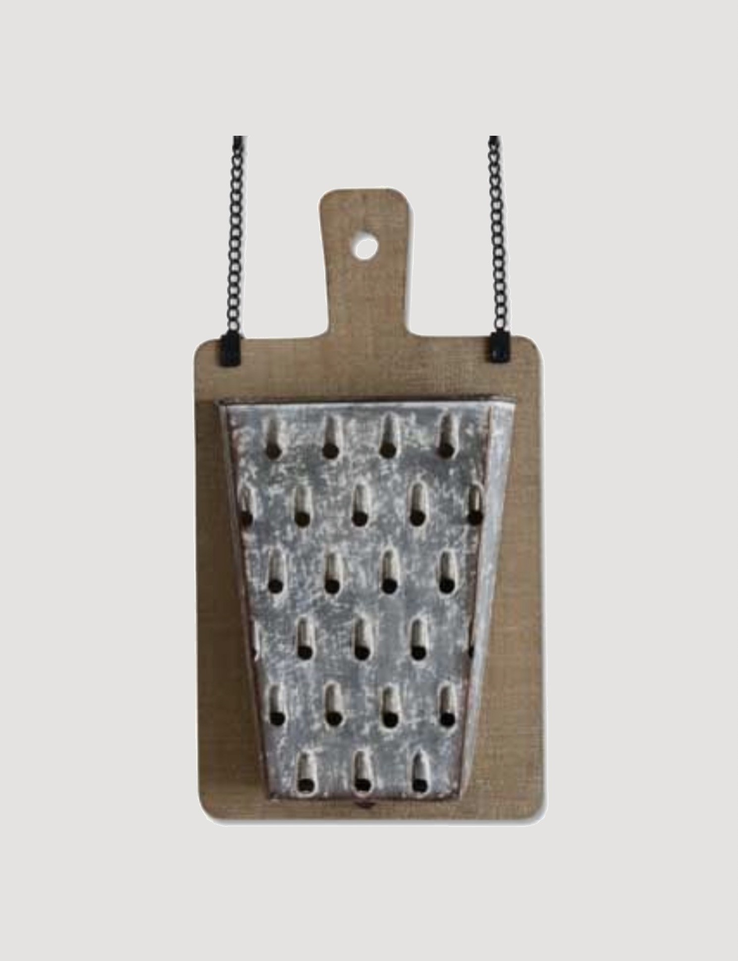 K & K Interiors Wooden Cutting Board with Tin Grater Pockets Arrow Replacement